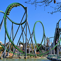 Incredible Hulk Roller Coaster at Islands of Adventure in Orlando, Florida <br />