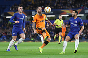 Vierinha of PAOK FC (20) controlling the ball during the Champions League group stage match between Chelsea and PAOK Salonica at Stamford Bridge, London, England on 29 November 2018.