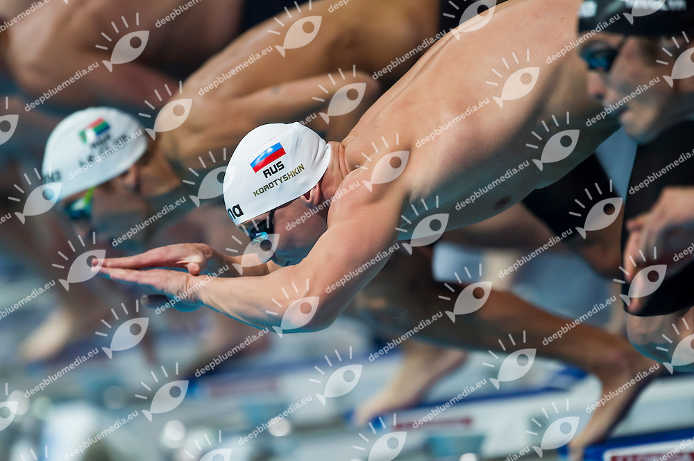 Evgeny Korotyshkin RUS<br /> Men's 100m butterfly final<br /> 15th FINA World Aquatics Championships<br /> Palau Sant Jordi, Barcelona (Spain) 03/08/2013 <br /> &copy; Giorgio Perottino / Deepbluemedia.eu / Insidefoto