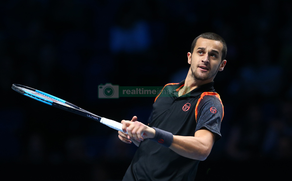 November 17, 2017 - London, United Kingdom - Mate Pavic (CRO) in action.during Day six of the Nitto ATP World Tour  Finals played at The O2 Arena, London on November 17 2017  (Credit Image: © Kieran Galvin/NurPhoto via ZUMA Press)