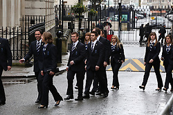Members of the GB Olympic Team arrive at 10 Downing Street, London, United Kingdom. Tuesday, 25th February 2014. Picture by Daniel Leal-Olivas / i-Images