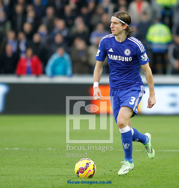 Filipe Luis of Chelsea during the Barclays Premier League match at the Liberty Stadium, Swansea<br /> Picture by Mike Griffiths/Focus Images Ltd +44 7766 223933<br /> 17/01/2015