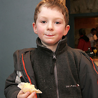 Cian Fahy enjoyed the goodies for eating at the opening night of the Hidden Depths art exhibition in Ennistymon on Wednesday night.<br /> <br /> Photograph by Yvonne Vaughan.