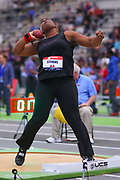 Jeneva Stevens competes in the shot put during the USA Indoor Track and Field Championships in Staten Island, NY, Sunday, Feb 24, 2019. (Rich Graessle/Image of Sport)