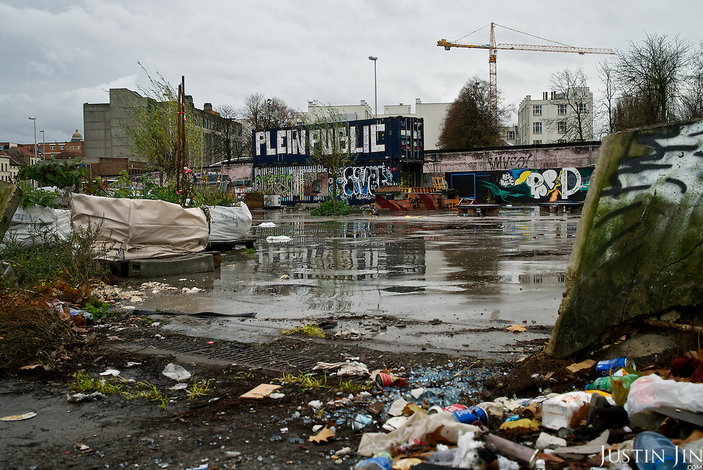 A playground in Brussels' Molenbeek neighbourhood, a hotbed of Islamic fundamentalism.