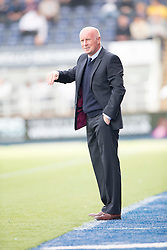 Falkirk's manager Peter Houston.<br /> Falkirk 1 v 1 Queen of the South, Scottish Championship game played today at The Falkirk Stadium.