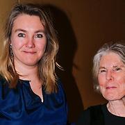 NLD/Amsterdam/20130309 - Modeshow Mart Visser zomer 2013, Melanie Schultz van Haegen en haar moeder