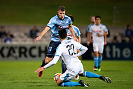 SYDNEY, AUSTRALIA - MAY 21: Sydney FC player Mitchell Austin (21) takes the ball downfield at AFC Champions League Soccer between Sydney FC and Kawasaki Frontale on May 21, 2019 at Netstrata Jubilee Stadium, NSW. (Photo by Speed Media/Icon Sportswire)