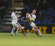 Dundee&rsquo;s James McPake and Ross County&rsquo;s Liam Boyce - Ross County v Dundee, Ladbrokes Premiership at Victoria Park<br /> <br />  - &copy; David Young - www.davidyoungphoto.co.uk - email: davidyoungphoto@gmail.com