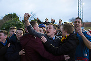 Albion Rovers fans at a match.