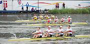 Amsterdam. NETHERLANDS.  Top. AUS M4-. Bow. Furgus PRAGNELL, Joshua DUNKLEY-SMITH, Spencer TURRIN and Alexander LLOYD. Lane 3. NED M4-Boaz MEYLINK, Mechiel VERSLUIS, Oliver SIEGELAAR and Robert LUECKEN,   Bosbaan Rowing Course. 2014 World Rowing Champions . 15:56:46  Thursday  DATE}  [Mandatory Credit; Peter Spurrier/Intersport-images]