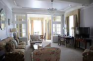 The living room in a suite at the Mount Nelson Hotel in Cape Twon South Africa.  photograph by Dennis Brack...