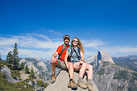 Mid 30's couple at glacier Point Yosemite National Park, California