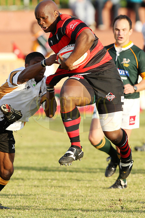 Sangoli Mxoli of EP Kings during the ABSA Currie Cup 1st Division Match between the Boland Cavaliers and Eastern Province Kings held at Boland Stadium in Wellington, Western Cape, South Africa on the 31 July 2010.Photo by RG/SPORTZPICS