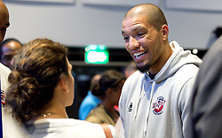Greg Streete of Bristol Flyers chats to guests - Mandatory by-line: Robbie Stephenson/JMP - 12/09/2016 - BASKETBALL - Ashton Gate Stadium - Bristol, England - Bristol Flyers Sponsors Event