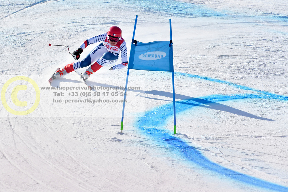 BOCHET Marie LW6/8-2 FRA competing in ParaSkiAlpin, Para Alpine Skiing, Super G at PyeongChang2018 Winter Paralympic Games, South Korea.