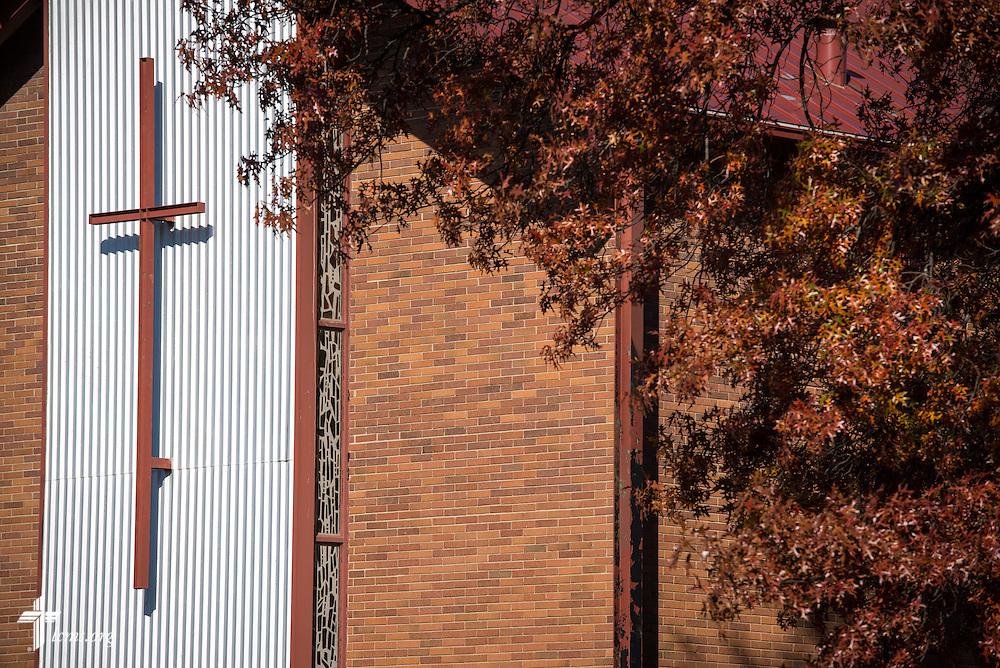 Exterior photograph on Sunday, Nov. 22, 2015, at Salem Lutheran Church in Springdale, Ark. LCMS Communications/Erik M. Lunsford