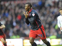 Readings Yakubu Celebrates His Winning Goal and Readings Second at Derby, Derby County v Reading, FA Cup 5th Round, The Ipro Stadium, Saturday 14th Febuary 2015