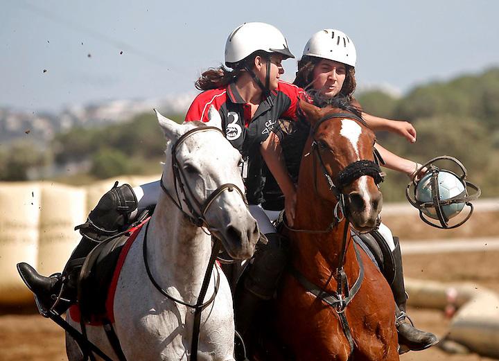 TEMA: CAMPIONAT DE HORSEBALL A L'HIPICA AIGUAMOLLS..LLOC: PALAU. .DATA: 20/06/09. .FOTO: TONI VILCHES.