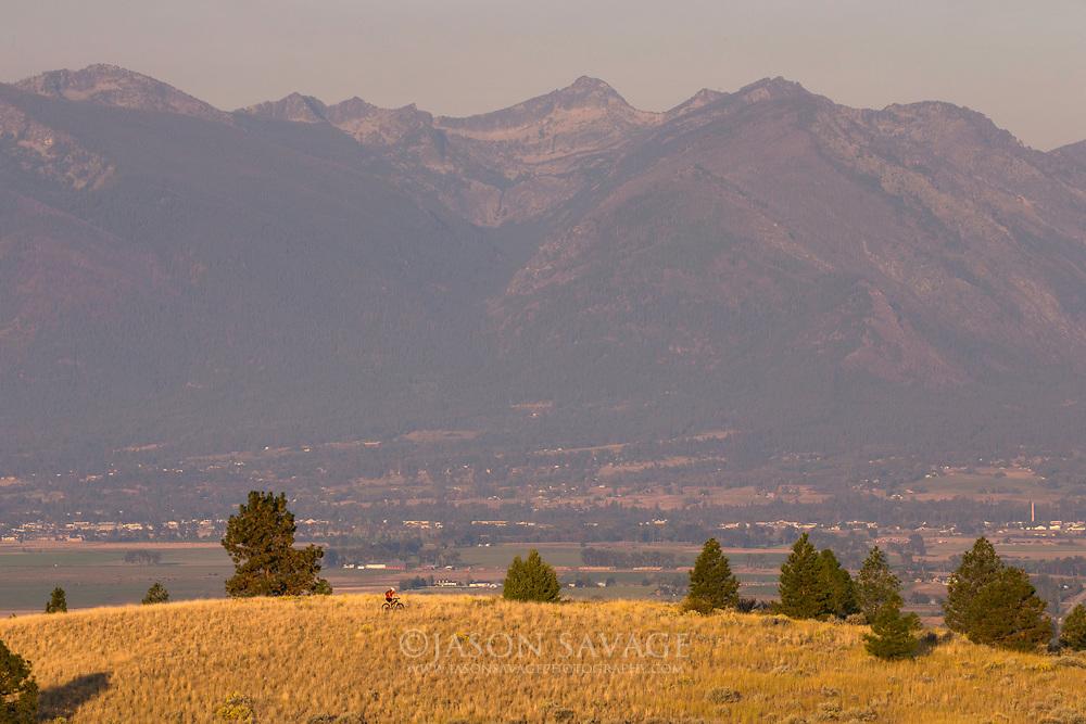 Mountain Biking, Bitterroot Mountains, Montana.