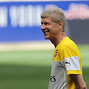 Arsenal Manager Arsène Wenger at a training session at Red Bull Arena ahead of the friendly match between Arsenal and New York Red Bulls. Red Bull Arena, Harrison, New Jersey. USA. 24th July 2014. Photo Tim Clayton