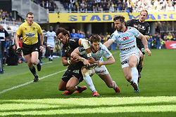 April 1, 2018 - Clermont Ferrand - Stade Marcel, France - Peter Betham (asm) vs Louis Depichot et Marc Andreu  (Credit Image: © Panoramic via ZUMA Press)