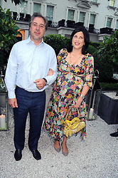 The HON.KIRSTIE ALLSOPP and BEN ANDERSON at the Tatler Summer Party, The Hempel Hotel, 31-35 Craven Hill Gardens, London W2 on 25th June 2008.<br />