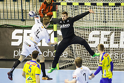 Lesjak Urban #1 of RK Celje Pivovarna Lasko during handball match between RK Celje Pivovarna Lasko (SLO) and IFK Kristianstad (SWE) in Group phase of EHF Men's Champions League 2016/17, on February 11, 2017 in Arena Zlatorog, Celje, Slovenia. Photo by Grega Valancic