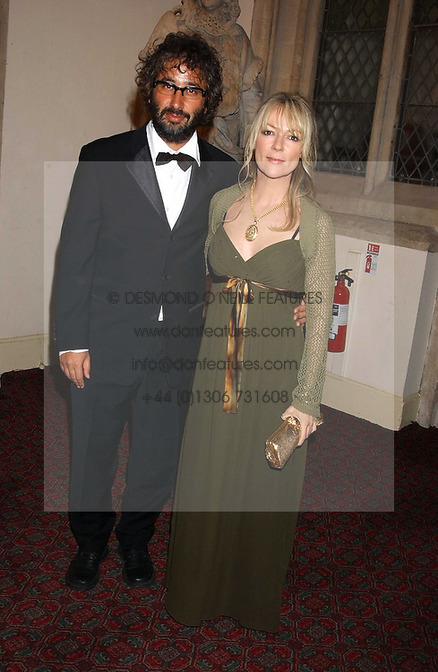 Comedian DAVID BADDIEL and MORWENNA BANKS at a dinner to announce the 2005 Man Booker Prize held at The Guilhall, City of London on 10th October 2005.<br />