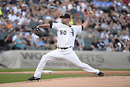 CHICAGO - AUGUST 16:  John Danks of the Chicago White Sox pitches against the Toronto Blue Jays on August 16, 2014 at U.S. Cellular Field in Chicago, Illinois.   (Photo by Ron Vesely)