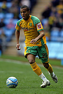 Coventry - Saturday, March 8th, 2008: Ryan Bertrand of Norwich City during the Coca Cola Championship match at the Ricoh Arena, Coventry. (Pic by Paul Hollands/Focus Images)