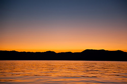 """Sunrise at Lake Tahoe 8"" - This sunrise was photographed from a boat on Lake Tahoe."