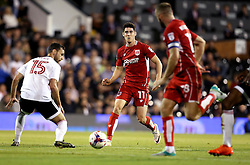 Callum O'Dowda of Bristol City passes the ball to Aaron Wilbraham of Bristol City to set up their sides first goal against Fulham - Mandatory by-line: Robbie Stephenson/JMP - 21/09/2016 - FOOTBALL - Craven Cottage - Fulham, England - Fulham v Bristol City - EFL Cup