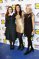 Lydia Rose Bewley, Jessica Knappett, Lauren O'Rourke, British Comedy Awards, Fountain Studios, London UK, 16 December 2014, Photo by Richard Goldschmidt