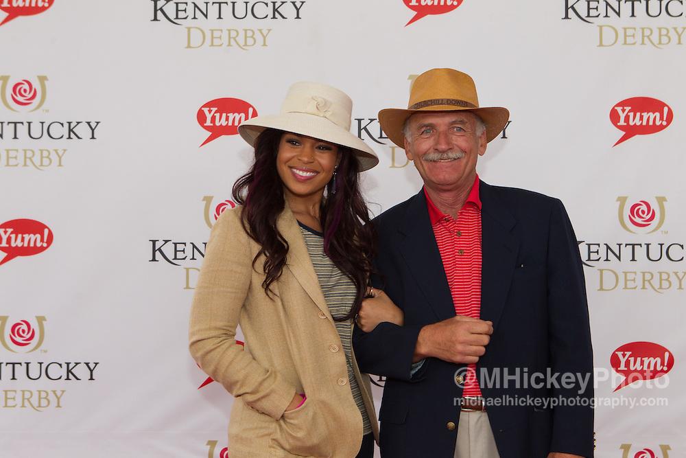 American Idol winner Jordin Sparks appears at the Kentucky Derby in Louisville, Kentucky..Photo by Michael Hickey