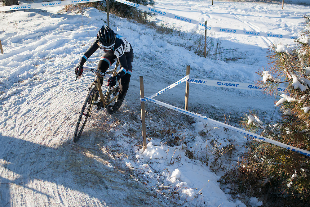 Local hero Tina Brubaker (Speedvagen Racing Machines) riding the dicey sections with ease.  ©Brian Nelson