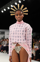 Designs by student Leanne Warren from Ravensbourne College at Graduate Fashion Week in London , Monday, 3rd June 2013<br /> Picture by:  Stephen Lock / i-Images