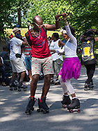 Roller Disco organized by the Central Park Dance Skaters Association was hopping today.