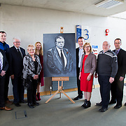 24.03.2017            <br /> Limerick Civic Trust, Marjorie Daly commissioned Jim Kemmy Portrait unveiling by Jan O'Sullivan TD at the Kemmy Business School, University of Limerick. <br /> <br /> Pictured at the event were, Tom Considine, Mike Kemmy, Thomas Hannon, Margaret O'Donoghue, Cllr. Elena Secas, Alan Kelly, TD, Jan O'Sullivan TD, Joe Kemmy, Cllr. Joe Leddin and Seamus Harrold. Picture: Alan Place