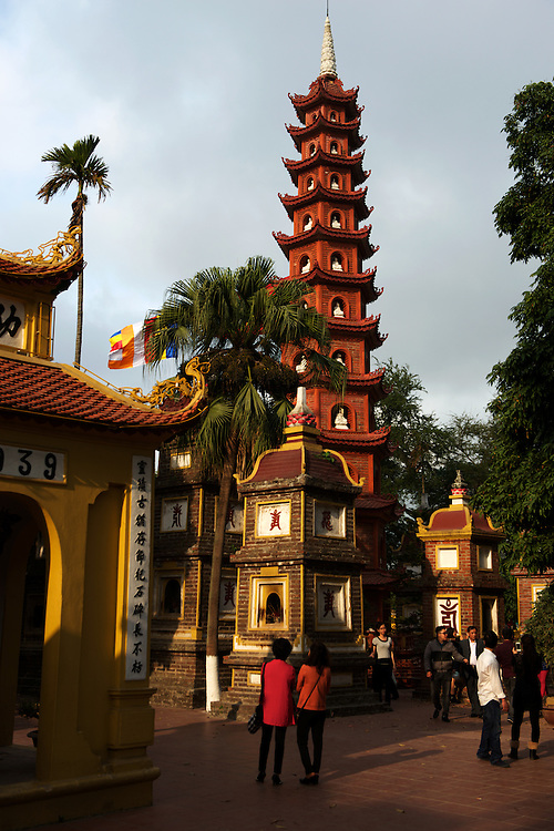Tran Quoc Pagoda, Hanoi's oldest temple.Built during the 6th century Ly dynasty.
