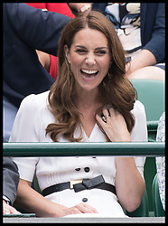 July 2, 2019 - London, London, United Kingdom - Image licensed to i-Images Picture Agency. 02/07/2019. London, United Kingdom. The Duchess of Cambridge watches the tennis on No 1 court on the second day of the Wimbledon Tennis Championships in London. (Credit Image: © Stephen Lock/i-Images via ZUMA Press)