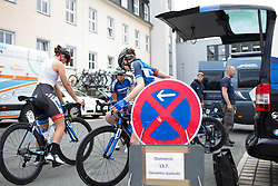 Team WNT riders prepare for Stage 1 of the Lotto Thuringen Ladies Tour - a 124.8 km road race, starting and finishing in Schleiz on July 13, 2017, in Thuringen, Germany. (Photo by Balint Hamvas/Velofocus.com)