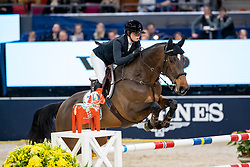 HOLMÉN Stephanie (SWE), Flip's Little Sparrow<br /> Göteborg - Gothenburg Horse Show 2019 <br /> Gothenburg Trophy presented by VOLVO<br /> Int. jumping competition with jump-off (1.55 m)<br /> Longines FEI Jumping World Cup™ Final and FEI Dressage World Cup™ Final<br /> 06. April 2019<br /> © www.sportfotos-lafrentz.de/Stefan Lafrentz