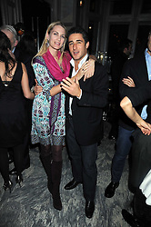 LUCA DEL BONO and PRINCESS ISABELLA BORROMEO at a party for Yves Saint Laurent's Creative Director Stefano Pilati given by Colin McDowell held at The Connaught Bar, The Connaught, Mount Street, London on 29th October 2008.