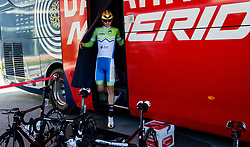 Matej Mohoric of Slovenia prior to the Men's Elite Road Race a 258.5km race from Kufstein to Innsbruck 582m at the 91st UCI Road World Championships 2018 / RR / RWC / on September 30, 2018 in Innsbruck, Austria. Photo by Vid Ponikvar / Sportida