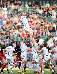 Exeter Chiefs win a line out  - Mandatory by-line: Joe Meredith/JMP - 28/05/2016 - RUGBY - Twickenham - London, England - Saracens v Exeter Chiefs - Aviva Premiership Final