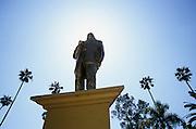 Statue of Benito Juarez in Parque Teniente Guerrero, Tijuana, Mexico