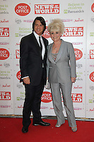 Barbara Windsor; Scott Mitchell News Of The World Children's Champions, Grosvenor House Hotel, Park Lane, London, UK, 30 March 2011:  Contact: Rich@Piqtured.com +44(0)7941 079620 (Picture by Richard Goldschmidt)