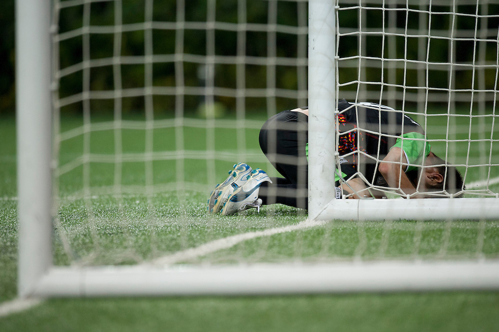 Oct. 19, 2011 - Guadalajara, Mexico - #9, Ta Oribe Peral from mexico misses a goal at Omnilife Stadium in Guadalajara, Mexico, on the first day of mens soccer preliminaries at the XVI Pan American Games. Mexico beat Ecuador with a score of 2:1..©Benjamin B Morris
