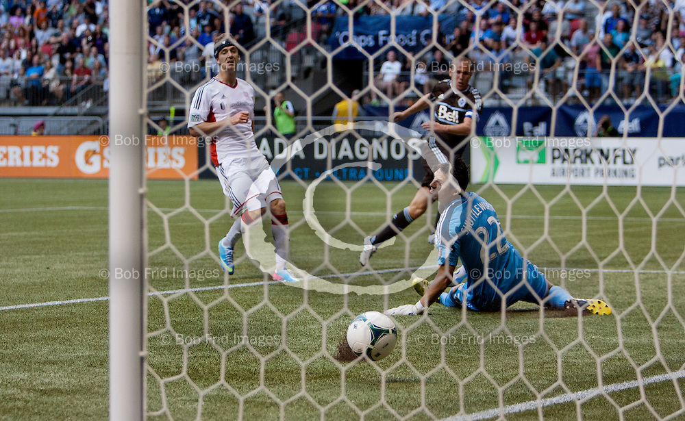 15 June 2013:   Action during a game between Vancouver Whitecaps FC and New England Revolution on Bell Pitch at BC Place Stadium in Vancouver, BC, Canada. ****(Photo by Bob Frid - Vancouver Whitecaps 2013 - All Rights Reserved)***